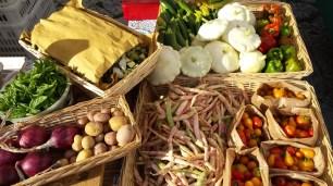Il banco con le verdure di Ciona