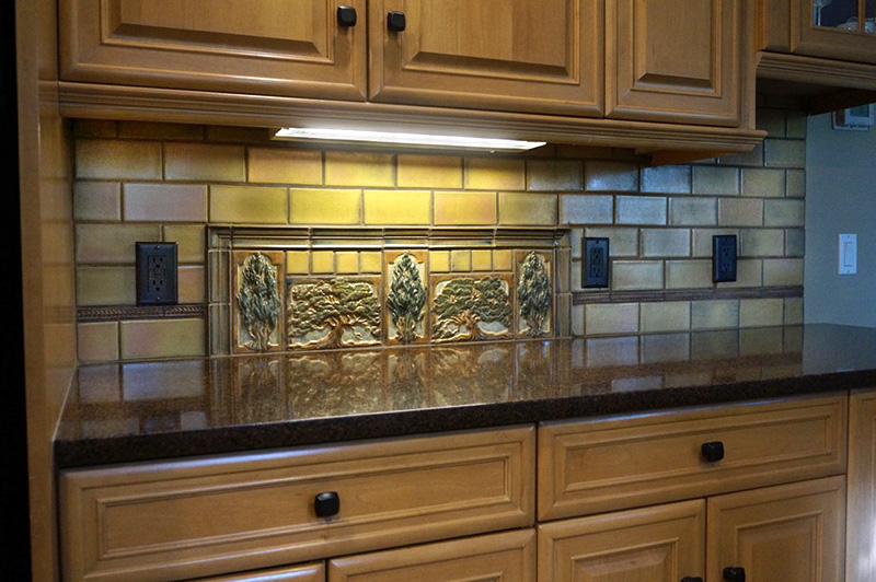 tile backsplash for kitchen copper sink faucet terra firma, ltd. handmade arts and crafts ...