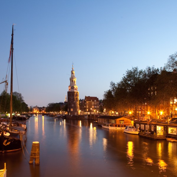 Waals Eilands Graght Montelbaanstoren ,Amsterdam, Holland (Netherlands)