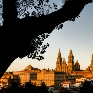 Spain, Galicia, Santiago de Compostela, the cathedral and the ol
