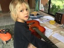 Valko playing guitar