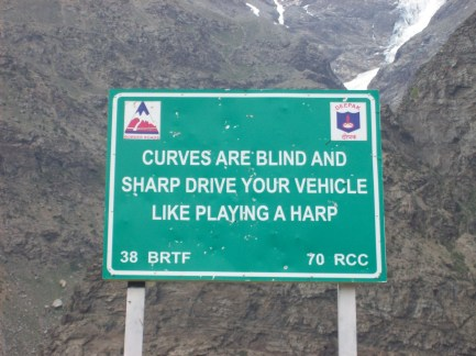 curves are blind and sharp drive your vehicle like playing a harp