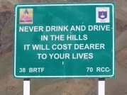 never drink and drive in the hills it will cost dearer to your lives