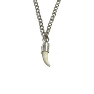Croc Necklace with Silver