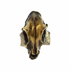 Bronce Ring Animal Skull