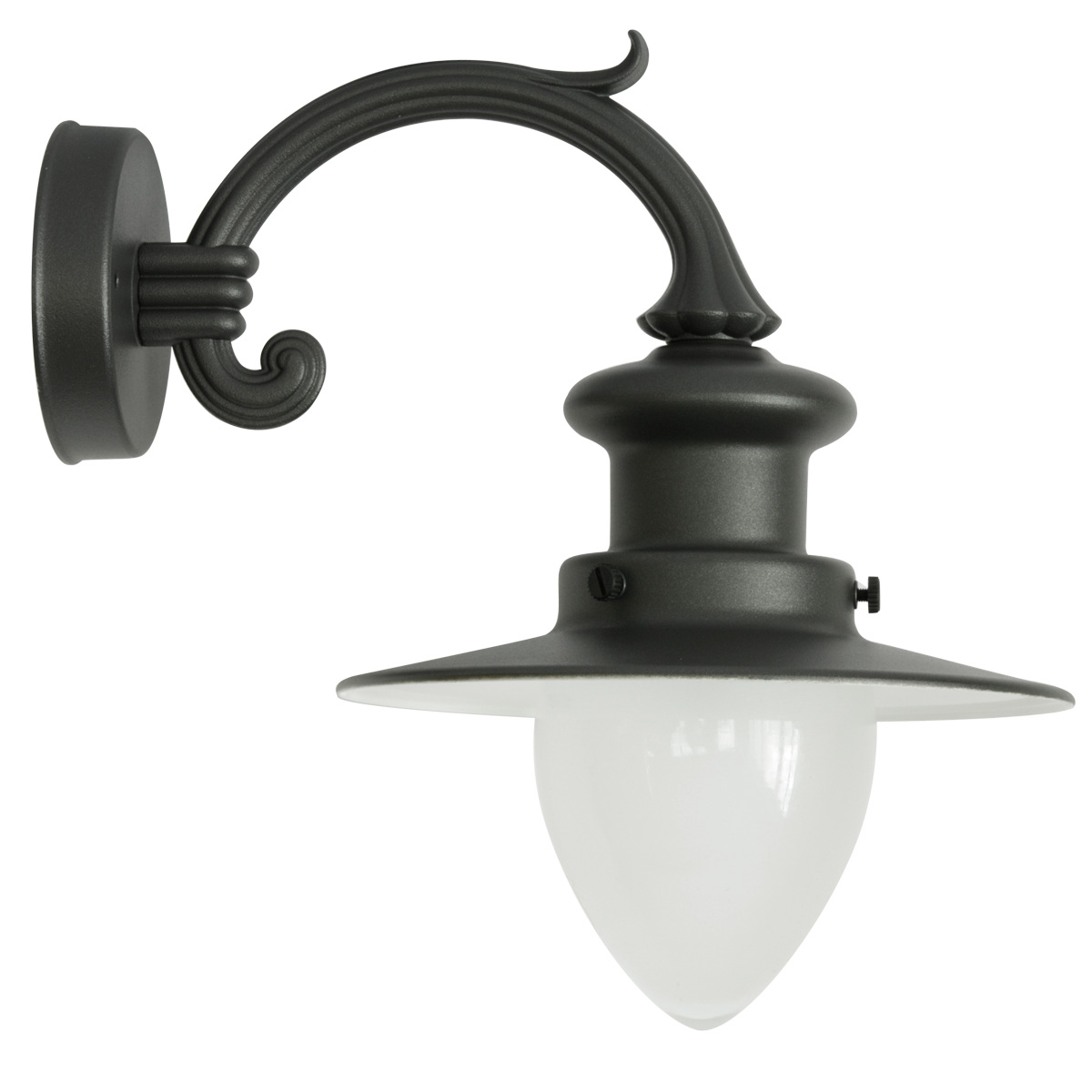 Kleine Wandlampe Factory-style Wall Light For Outdoor Use With Pointed Glass - Terra Lumi