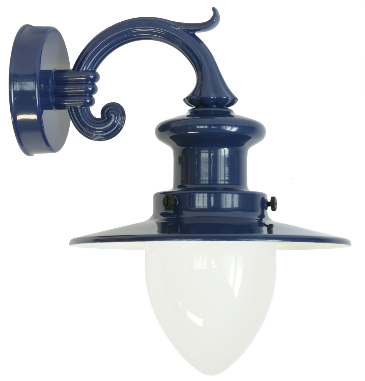 Kleine Wandlampe Small Factory-style Wall Lamp For Outdoor Use With Pointed Cylinder Glass - Terra Lumi