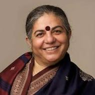 Dr. Vandana Shiva was the recipient of the 2011 Calgary Peace Prize. Source: ucalgary