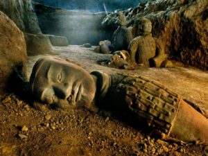 Mausolum of the First Qin Emperor (terra cotta warriors of China's first emperor)