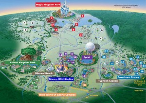 Walt-Disney-World Map