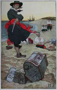 captain kidd burying treasure