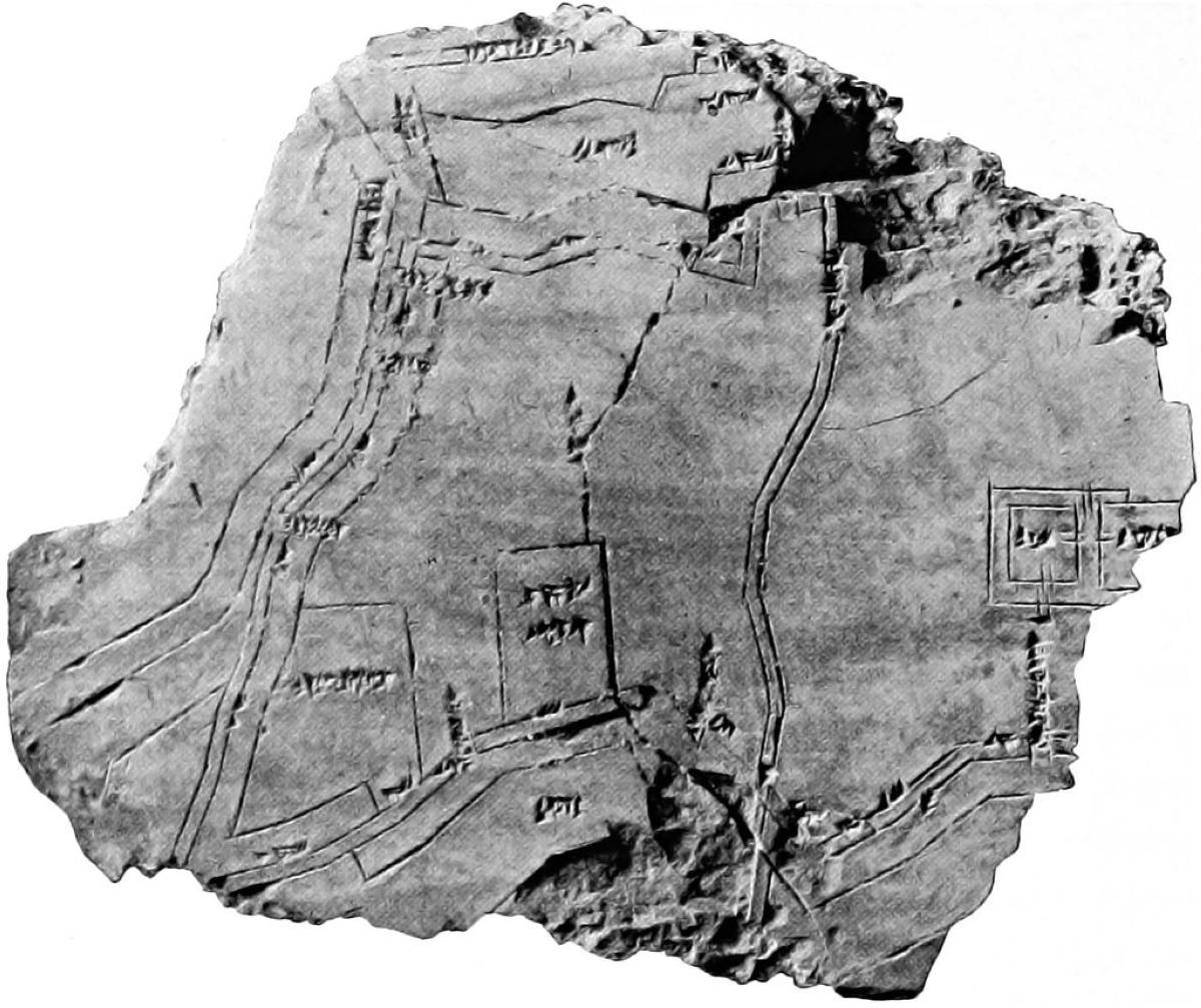 Clay_tablet_containing_plan_of_Nippur_(Hilprecht_EBL_1903)