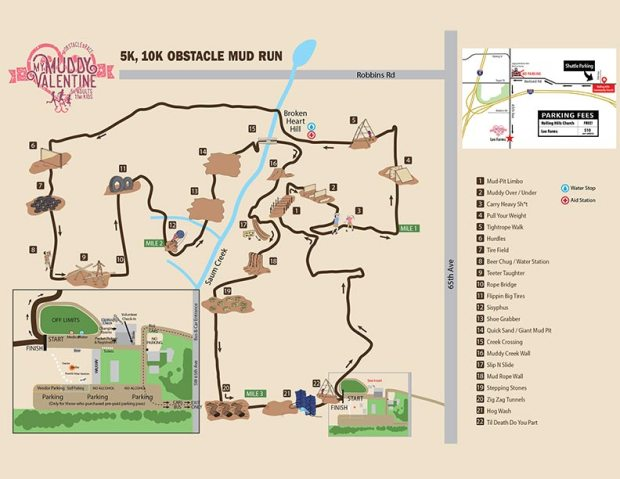 Map of My Muddy Valentine course