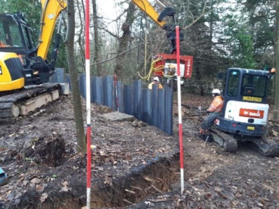 Caversham piling