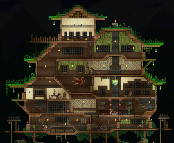 Progress on a Spawn House Terraria Builds