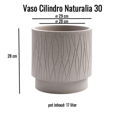 Vaso cilindro Naturalia 30 Avana MV