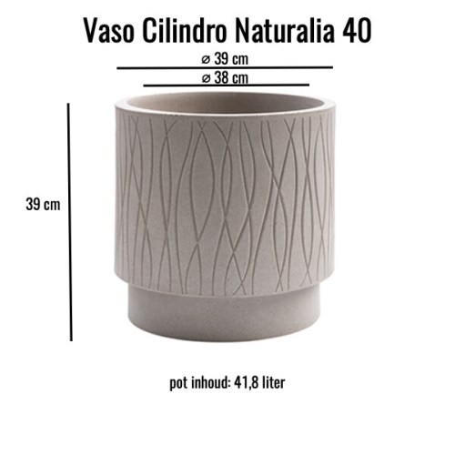 Vaso cilindro Naturalia 40 Avana MV