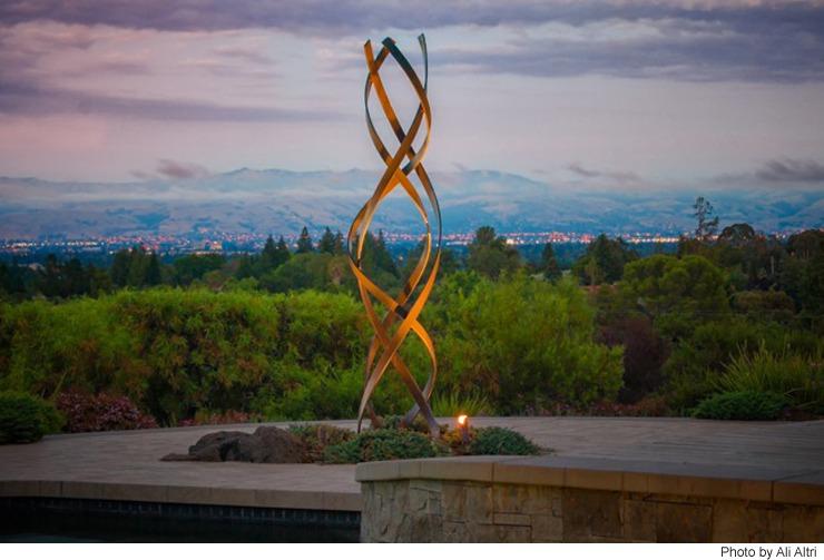 Kismet  Weathered Steel Outdoor Sculpture  TerraSculpture