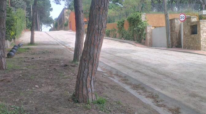 Estabilització carrer de sauló, accés veïnal a la Platja de Llafranc