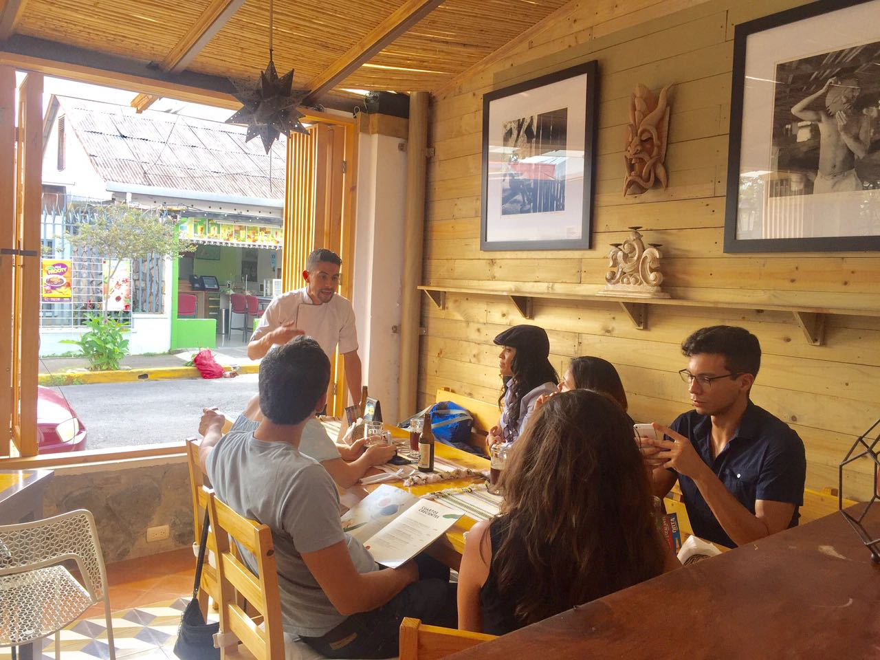 Having the main dish of traditional food during our gastronomical experience