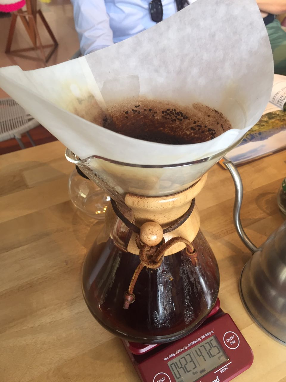 One of the famous methods to prepare coffee at the coffee tasting gastronomic experience
