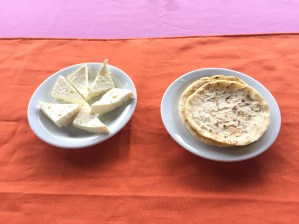 Homemade Cheese and Tortillas