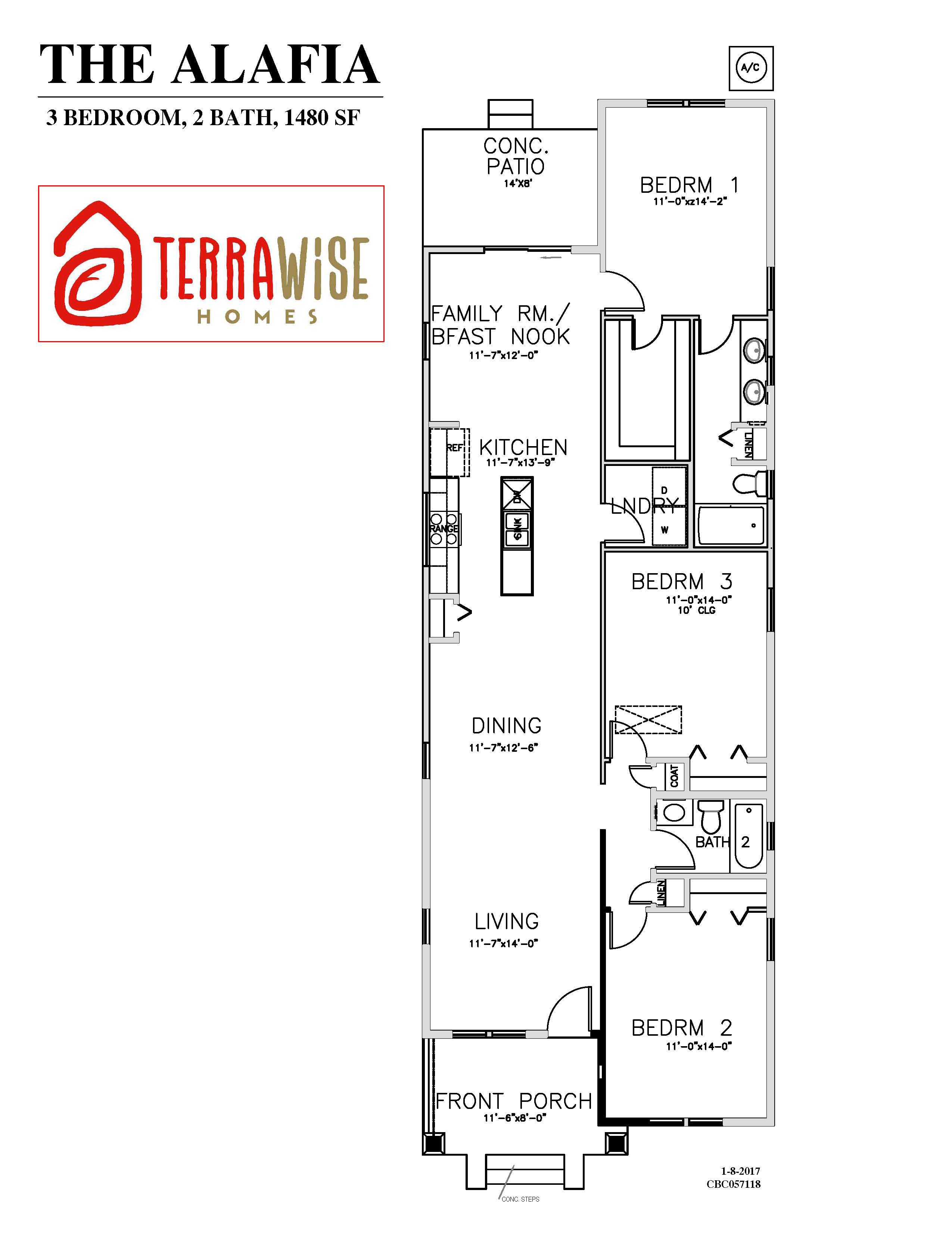 The Alafia Sf 3br 2ba 1 Story Terrawise Homes