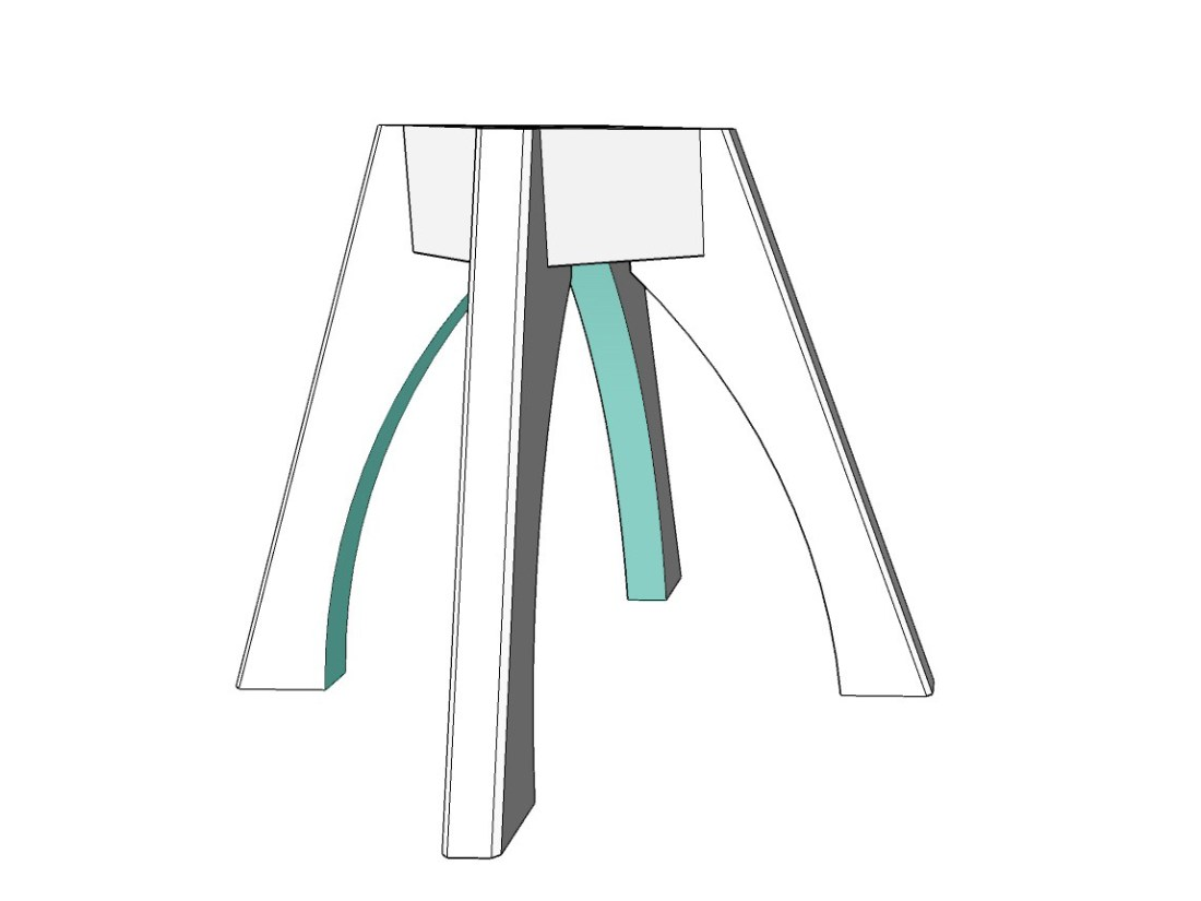 well dressed table by Terrawood shown in sketch up design with color