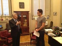Il direttore del Corriere della Sera intervistato dal nostro giornalista.