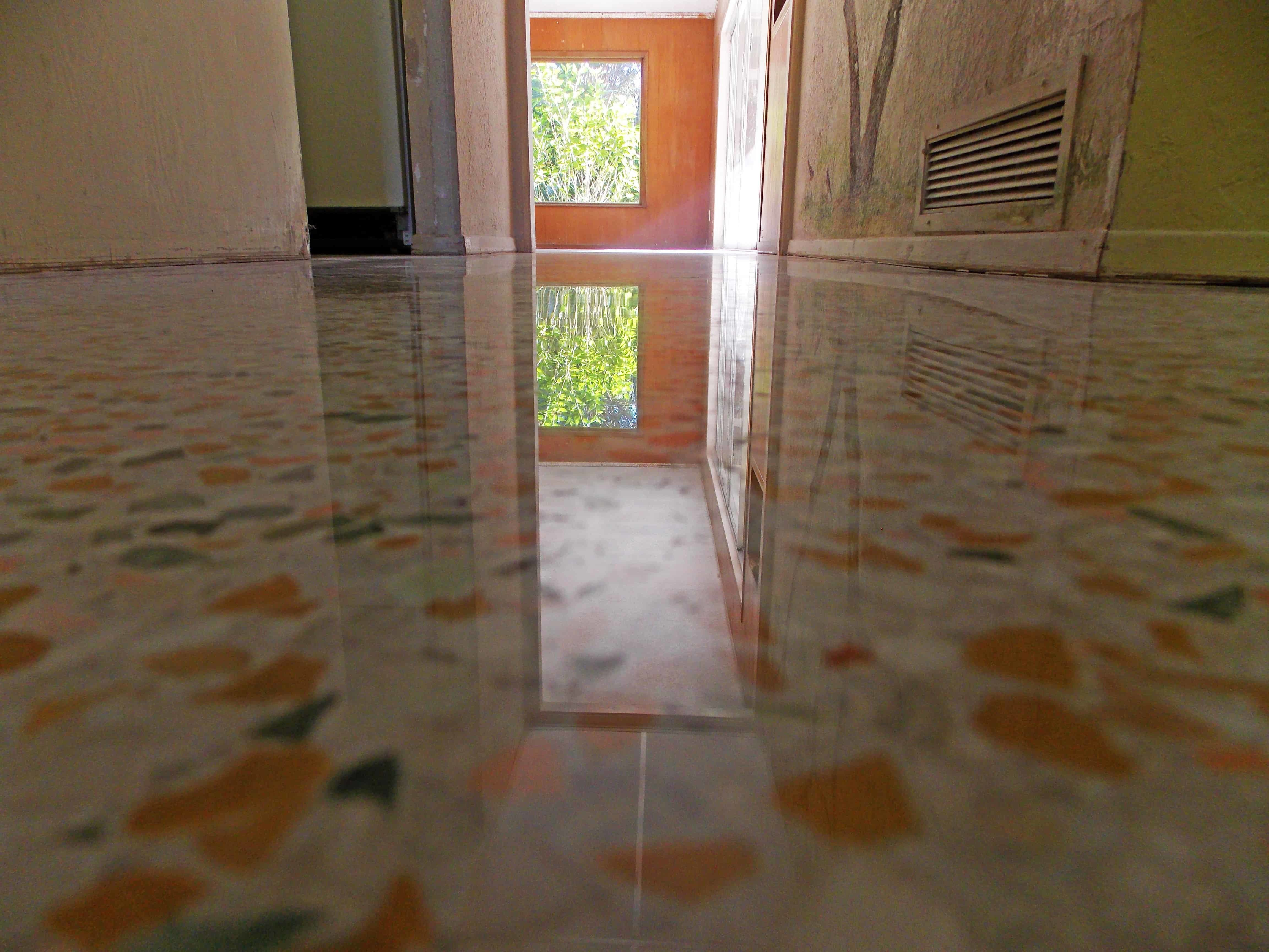 Cleaning Instruction for Diamond Polished Terrazzo