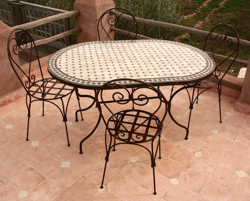 Table Fer Forgé Mosaique Occasion