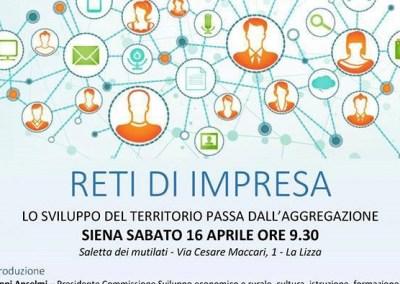 Reti di impresa. Siena – 16 aprile 2016
