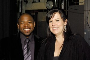 Vocalist Natasha Miller and Terrence Brewer at Save Our Music Event