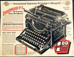 Ad for Underwood Typewriter No5