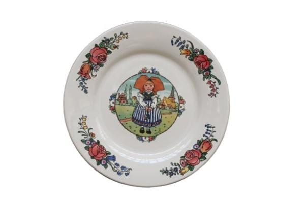 Assiette plate en faïence - Hansi