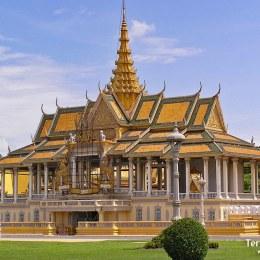 El Palacio Real y la Pagoda de Plata en Phnom Penh