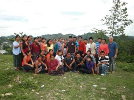 Les jeunes bénéficiaires du projet «Semillas de Saber» ( Graines de Savoir)à San luis au Petén.