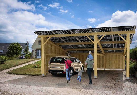 Abri Solaire Le Carport Bois Pour 1 2 Ou 3 Voitures Terre Solaire
