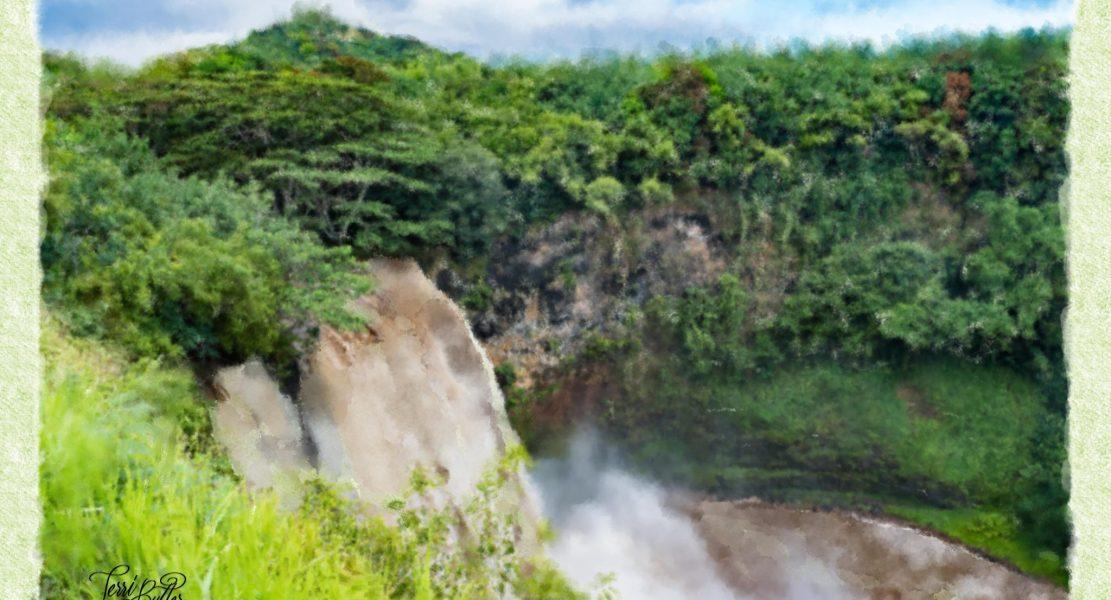 Wailua Falls Watercolor