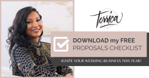 Get my free checklist to ignite your wedding business