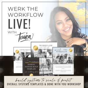 Build Your Event Business Workflow LIVE with Wedding Industry Educator Terrica