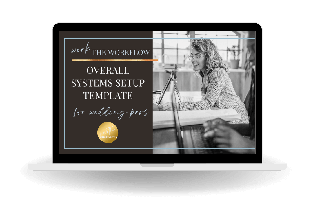 Get all your wedding business systems setup with this 15 page template