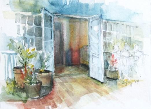 """Cafe Sunday"" on the patio"