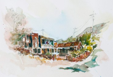 """The Wills House, Bisbee, Arizona"" Originally a bricklayer's home, now renovated."