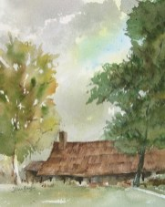 """November Ranch"" was painted en plein air at the historic Tanque Verde Guest Ranch east of Tucson."