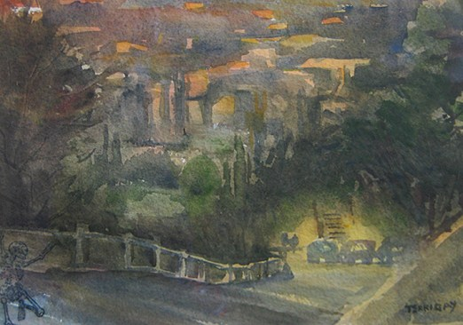 """Clawson Ave. Morning"" is a Bisbee Plein Air Fest piece"