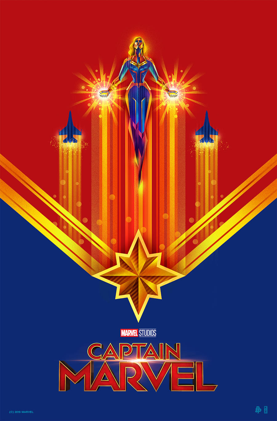 captain marvel inspired posters
