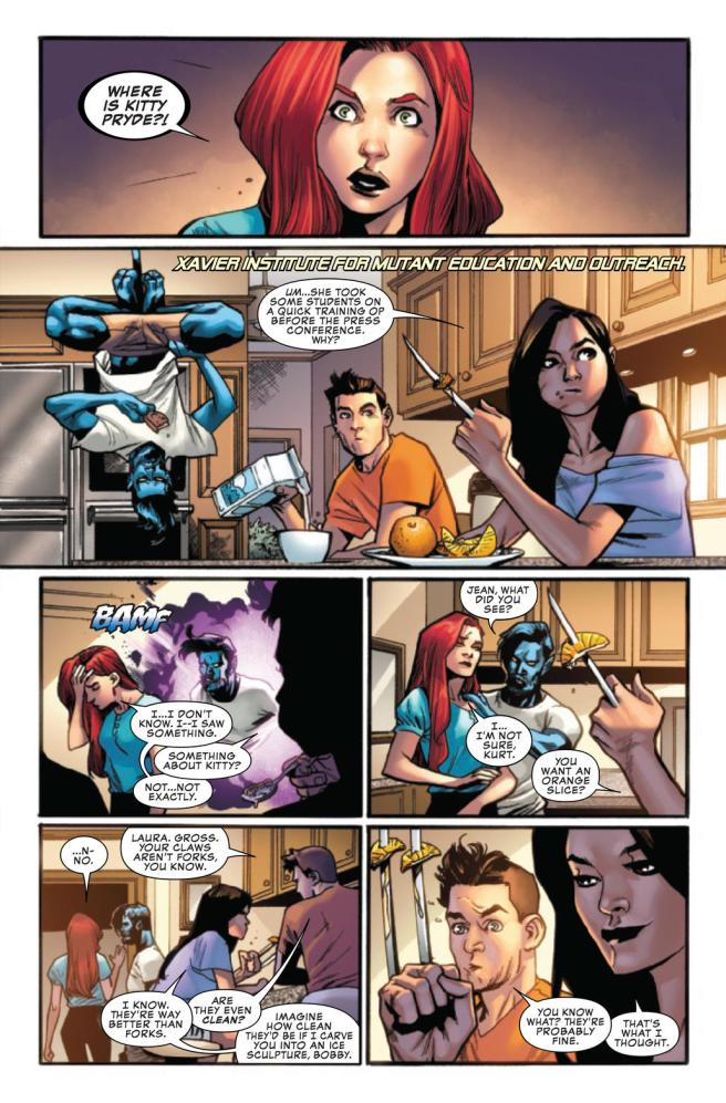 Preview page from Uncanny X-Men #1