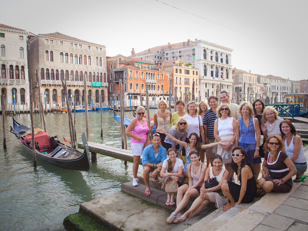 The group In Venice