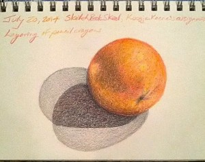 Red Grapefruit (Back to Sketchbook Skool Homework!)